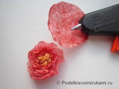 Как сделать розу из бумаги своими руками. Шаг №9. Фото 1.