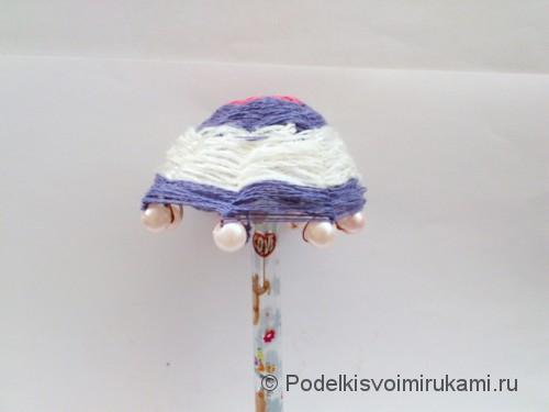 Как сделать зонтик для куклы. Шаг №8.