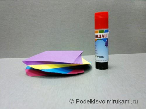 Как сделать цветок из бумаги. Модульное оригами. Фото №1.