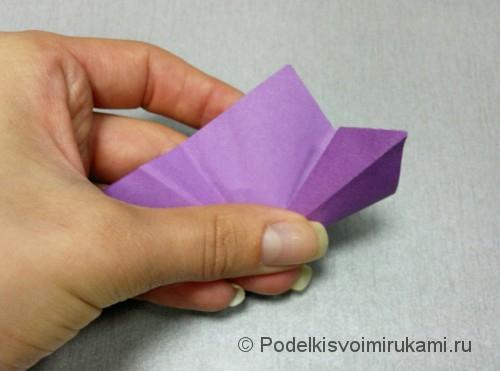 Как сделать цветок из бумаги. Модульное оригами. Фото №10.