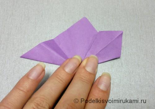 Как сделать цветок из бумаги. Модульное оригами. Фото №11.