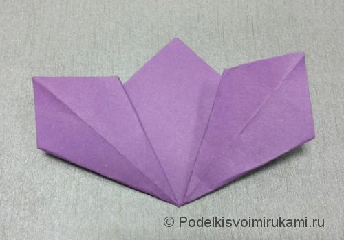 Как сделать цветок из бумаги. Модульное оригами. Фото №12.