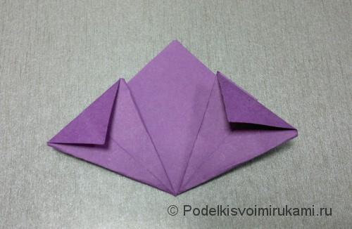 Как сделать цветок из бумаги. Модульное оригами. Фото №14.