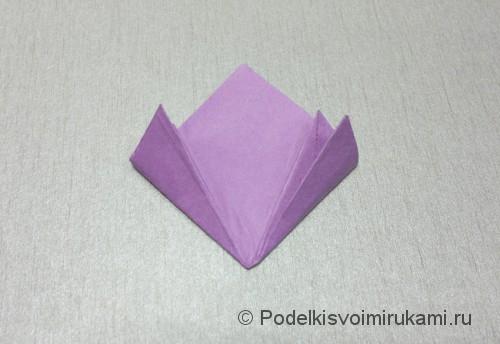 Как сделать цветок из бумаги. Модульное оригами. Фото №16.