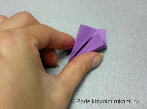 Как сделать цветок из бумаги. Модульное оригами. Фото №17.