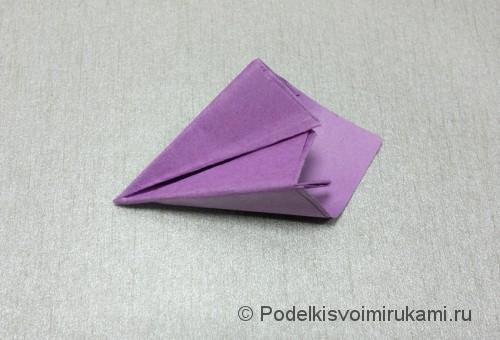 Как сделать цветок из бумаги. Модульное оригами. Фото №19.