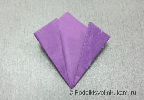 Как сделать цветок из бумаги. Модульное оригами. Фото №20.