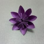Как сделать цветок из бумаги. Модульное оригами. Итоговый вид поделки.
