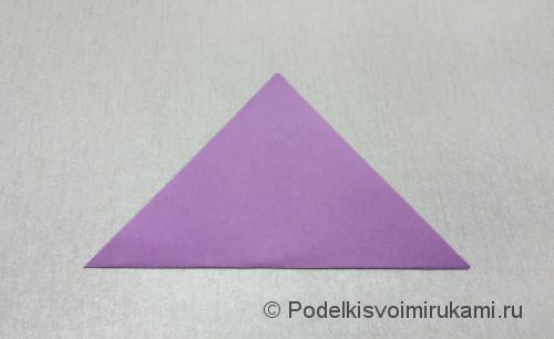 Как сделать цветок из бумаги. Модульное оригами. Фото №3.