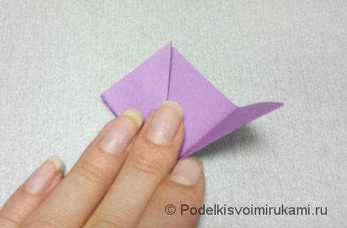 Как сделать цветок из бумаги. Модульное оригами. Фото №4.