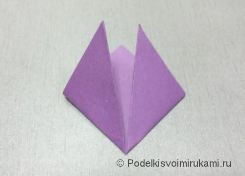 Как сделать цветок из бумаги. Модульное оригами. Фото №5.