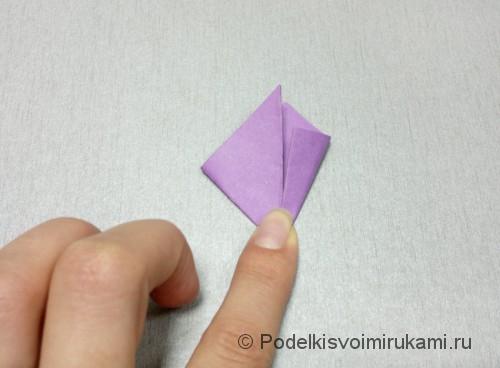 Как сделать цветок из бумаги. Модульное оригами. Фото №6.
