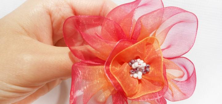 Цветы из капроновых лент мастер класс для начинающих