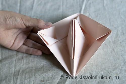 Изготовление бумажного кораблика - фото №10.