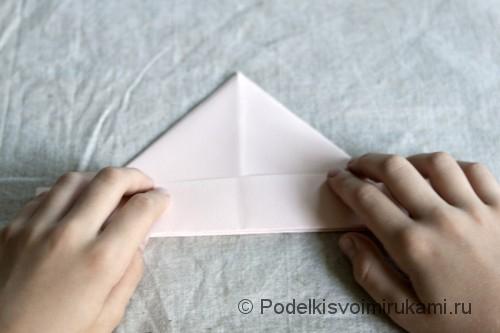 Изготовление бумажного кораблика - фото №5.