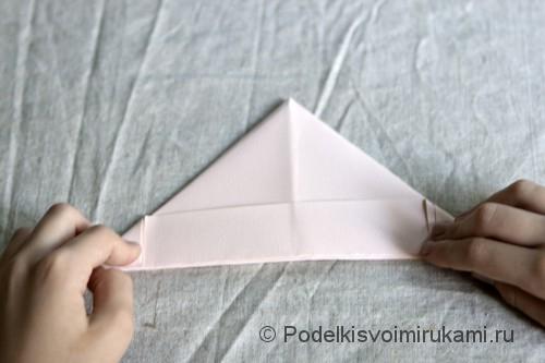 Изготовление бумажного кораблика - фото №6.
