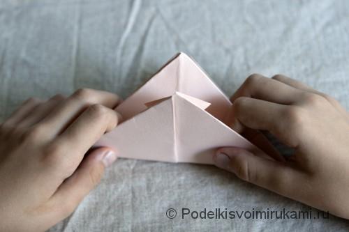 Изготовление бумажного кораблика - фото №8.