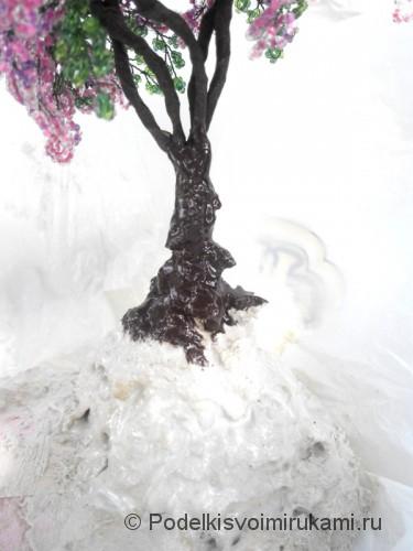 Как сделать дерево из бисера. Шаг №18.