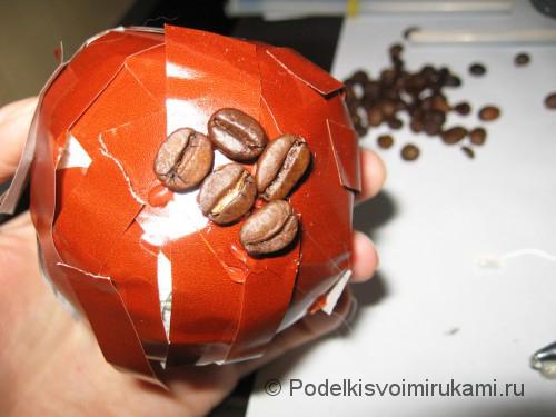 Как сделать кофейное дерево своими руками. Шаг №11.