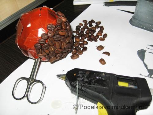Как сделать кофейное дерево своими руками. Шаг №12.