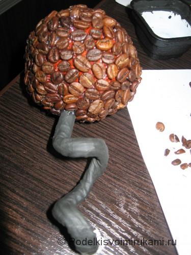 Как сделать кофейное дерево своими руками. Шаг №16.