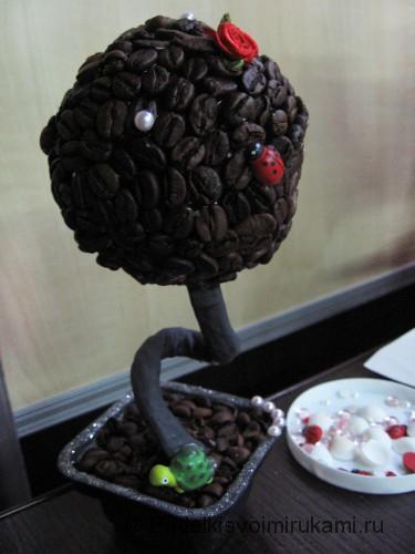 Как сделать кофейное дерево своими руками. Шаг №20.