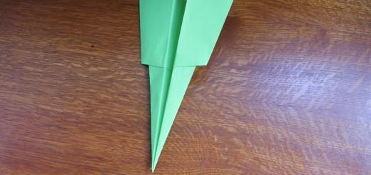Как сделать самолётик из бумаги своими руками. Итоговый вид поделки.