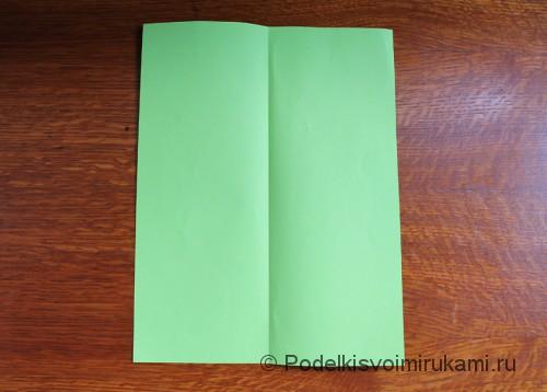 Как сделать самолётик из бумаги своими руками. Шаг №2.