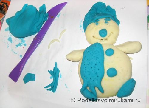 Как сделать солёное тесто для поделок. Снеговик из солёного теста.