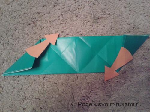 Как сделать четырёхконечный сюрикен из бумаги. Шаг №6. Фото 1.