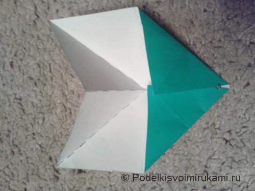 Как сделать восьмиугольный сюрикен из бумаги. Шаг №4. Фото 1.