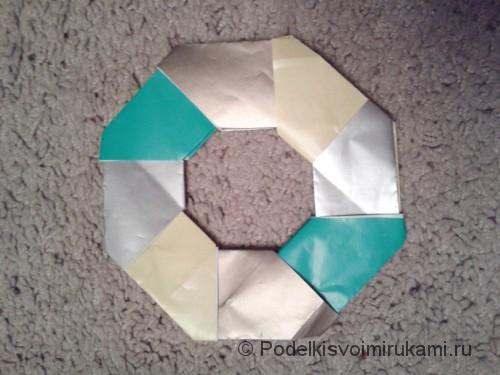 Как сделать восьмиугольный сюрикен из бумаги. Шаг №6. Фото 6.