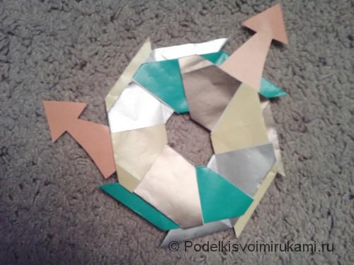 Как сделать восьмиугольный сюрикен из бумаги. Шаг №7.