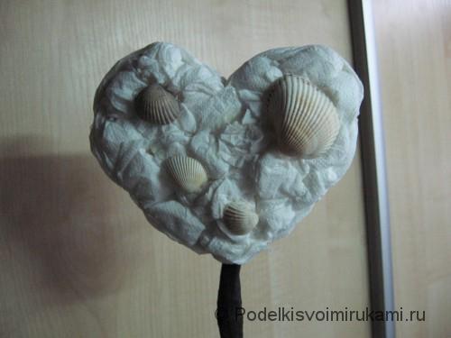 Топиарий в форме сердечка с ракушками. Шаг №10.