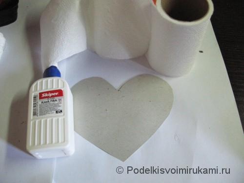 Топиарий в форме сердечка с ракушками. Шаг №5.