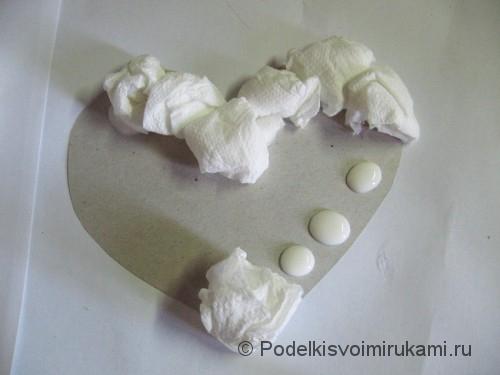 Топиарий в форме сердечка с ракушками. Шаг №7.