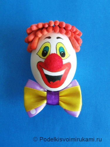 "Ёлочная игрушка. Клоун ""Клёвый Лёва"". Шаг №11."