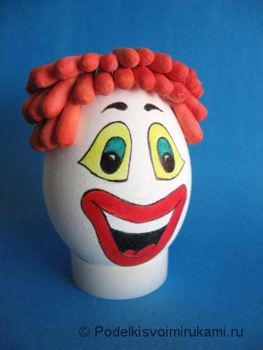"Ёлочная игрушка. Клоун ""Клёвый Лёва"". Шаг №6."