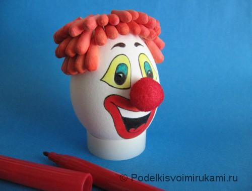 "Ёлочная игрушка. Клоун ""Клёвый Лёва"". Шаг №8."