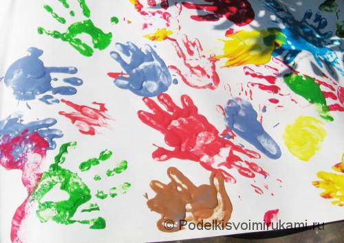 Пальчиковые краски своими руками в действии. Фото 2.