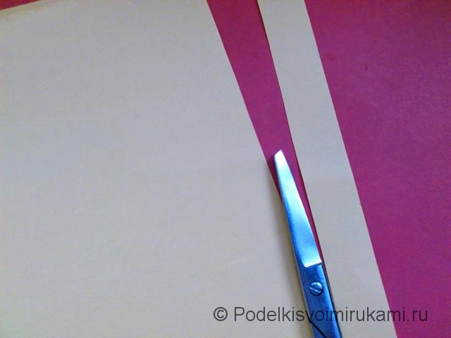 Цветок - ёлочная игрушка из бумаги. Шаг №2.
