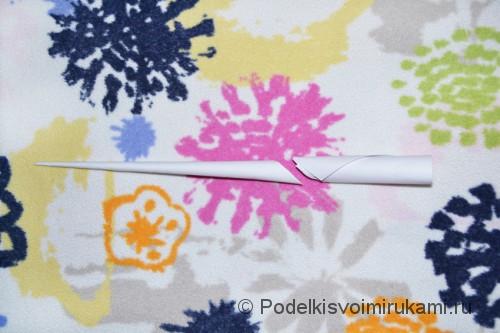Как сделать когти из бумаги. Шаг №2. Фото 10.