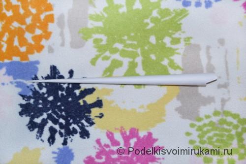 Как сделать когти из бумаги. Шаг №1. Фото 9.