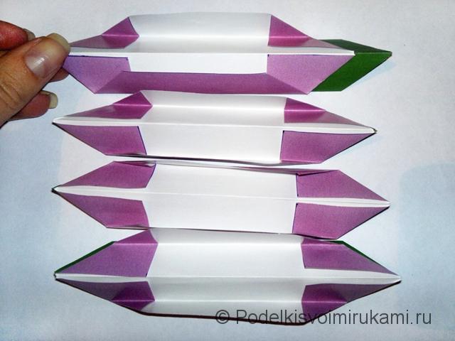 Как сделать лилию из бумаги. Шаг №2. Фото 14.