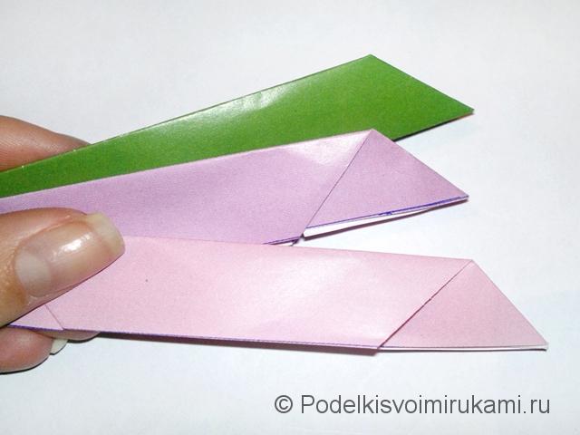 Как сделать лилию из бумаги. Шаг №2. Фото 16.