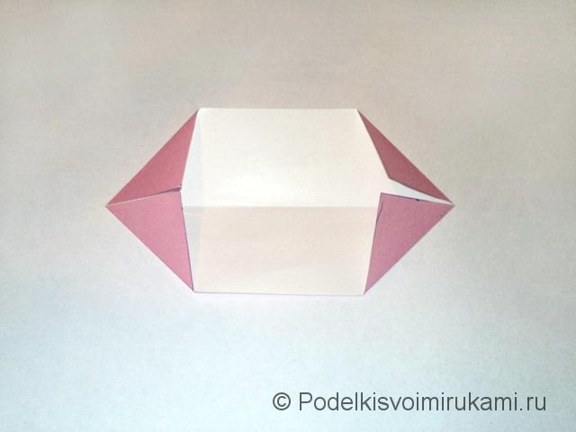 Как сделать лилию из бумаги. Шаг №1. Фото 4.