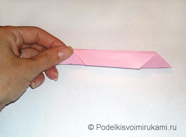 Как сделать лилию из бумаги. Шаг №1. Фото 9.