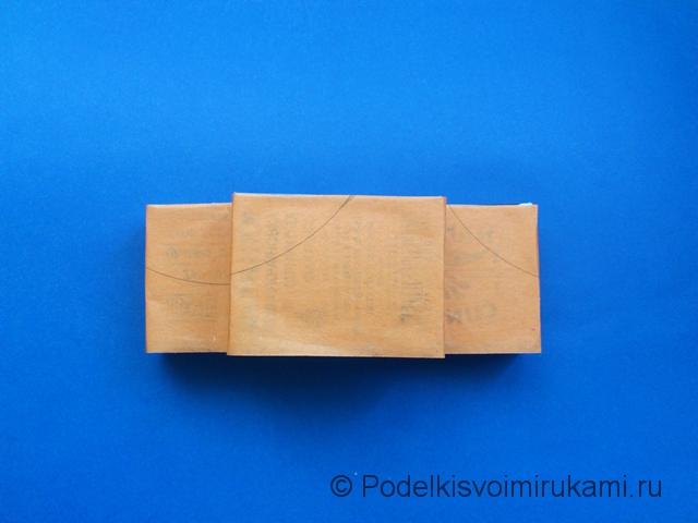 Кораблик из цветной бумаги. Шаг №3.
