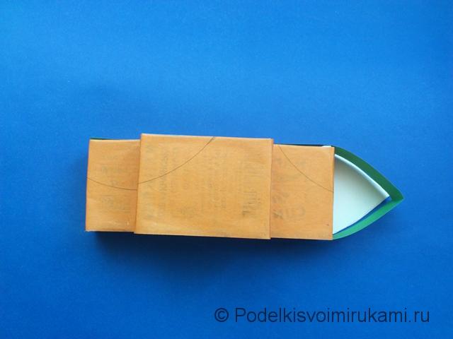 Кораблик из цветной бумаги. Шаг №6.