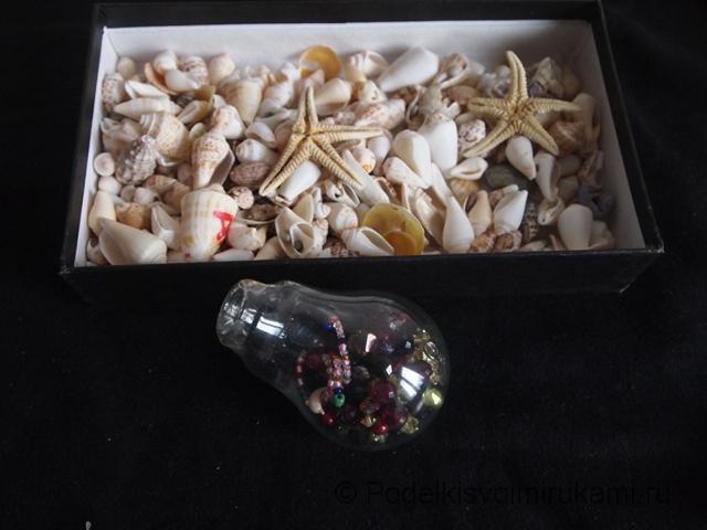 Ёлочная игрушка из перегоревшей лампочки. Шаг №2. Фото 1.